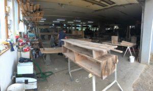 Sideboard in Arbeit